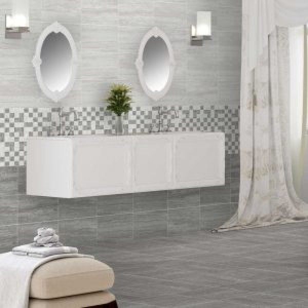 silver stone gris matt ceramic kitchen wall and bathroom wall 33cmx55cm