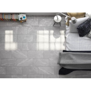 Dottlemore Gloss Concrete Perla Grey 30CM x 60CM Wall and Floor Gloss Tile