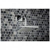 Oakland Grey Marble, Quartz and  Glass mix Mosaic