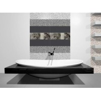 Mosaico Black 20cm x 60cm Feature Wall Bathroom And Kitchen Tile