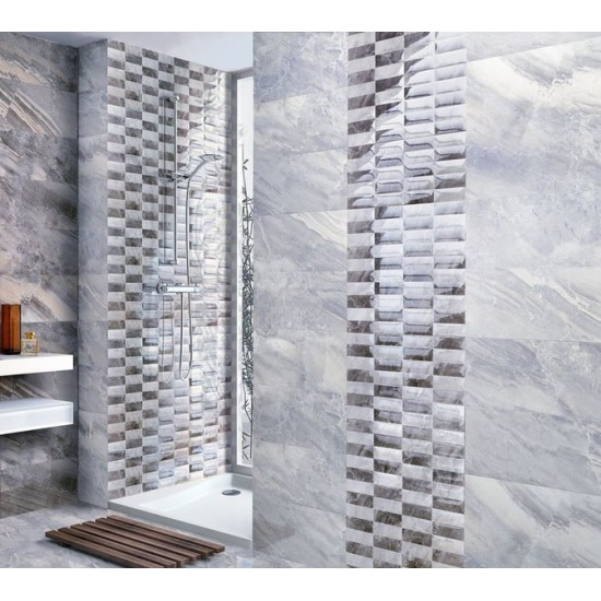 Alpes Gris 25CMx50CM Ceramic Gloss Kitchen And Bathroom Wall Tile