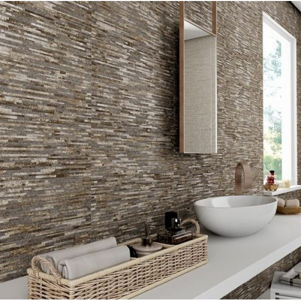 Broadway Gris 20cmx60cm Ceramic Kitchen And Bathroom Wall Tile