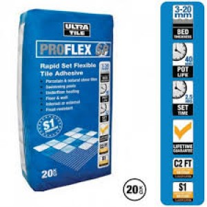 Pallet of 54 Granfix Ultra Tile Fix Pro Flex SP 20KG Flexible Grey Wall And Floor Adhesive