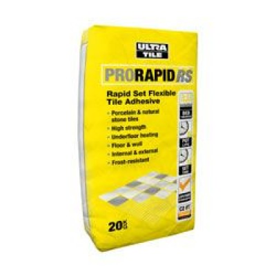 Granfix Pro Rapid RS Flexible Rapid Set Tile Adhesive 20KG Grey