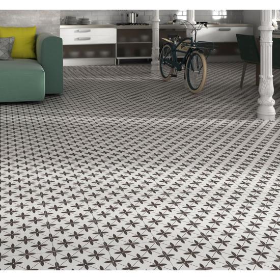 Dunham Grey 45CMx45CM Pre-Cut Porcelain Wall And Floor Feature Tile