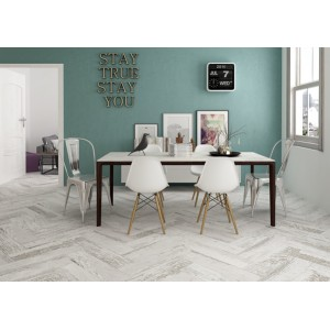 Aveola Grey 15x60 Wood Effect Kitchen, Bathroom, Hallway, Conservatory Wall And Floor Tile