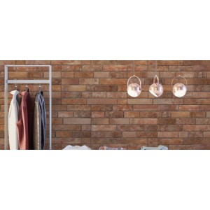 Brixwork Brick Teja 33CMx55CM Ceramic Bathroom Kitchen Living Room Feature Wall Tile