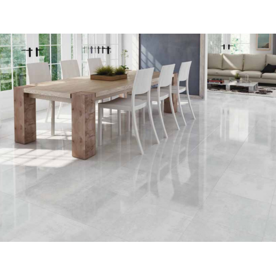 Kool Grey Polished Porcelain 60CMx60CM Kitchen And Bathroom Wall And Floor Tile
