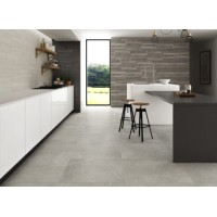 Knival Mottled Gloss Grey Gris Polished Porcelain 60CMx60CM Kitchen And Bathroom Wall And Floor Tile