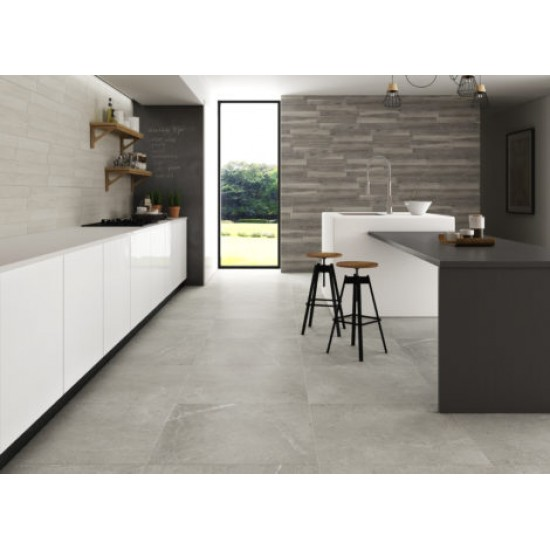 43.8m2 Pallet -Nivhal Gloss Grey Gris Polished Porcelain 60CMx60CM Kitchen And Bathroom Wall And Floor Tile