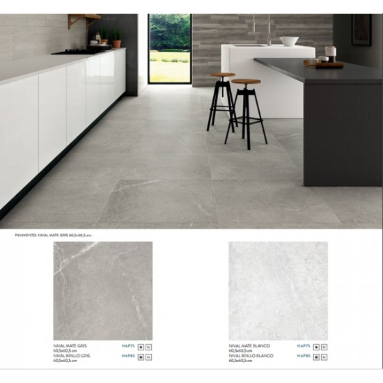 43.8m2 Pallet -Knivhal Bianco Gloss Polished Porcelain 60CMx60CM Kitchen And Bathroom Wall And Floor Tile