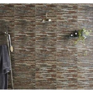 Breex Srathum Splitface Multi-Colour 31x45 Ceramic Matt Kitchen & Bathroom Wall Tile