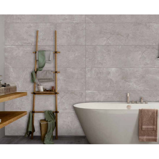 Sophisticated Gris Rectified Red Body Wall Tiles 32,6CMx120,2 Kitchen And Bathroom