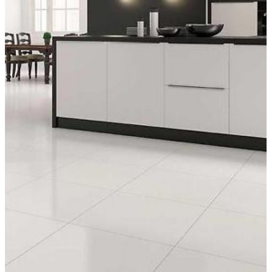 E-treme Paper Super White 60CMx60CM Polished Glazed Porcelain Kitchen And Bathroom Wall And Floor Tile
