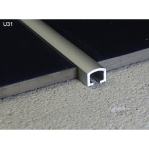 10mm Chrome listello Pencil Feature Metal Tile Edging Trim