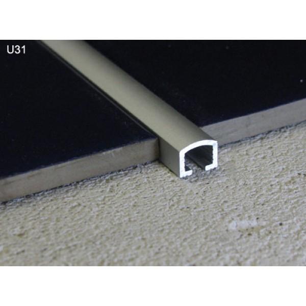 10mm Chrome Listello Pencil Feature Metal Tile Trim