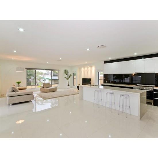 Belagio Off White Rouveena 60CMx60CM Floor And Wall High Gloss Nano Sealed Tiles