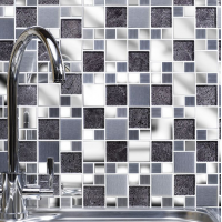 Moonlight Glass/Metal Mix Modular Mosaic