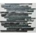 Kenton Grey Glass/Stone/Metal Mix Offset Linear Mosaic