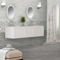 81m2-Pallet- Stones Parallel Dark Grey Gloss 25CMx40CM Ceramic Kitchen And Bathroom Wall Tile