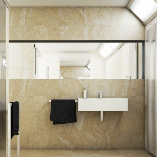 Sorrento Bone Travertine Effect 31x45 Ceramic Wall Tiles