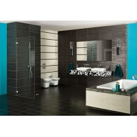 Metallic Black Porcelain 30CMx60CM Kitchen And Bathroom Wall And Floor Tile