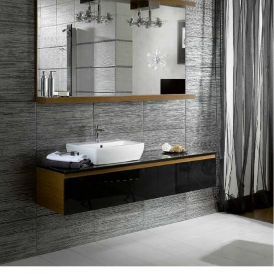 Metallic Chrome Porcelain Kitchen And Bathroom Wall And Floor Tile 30CMx60CM