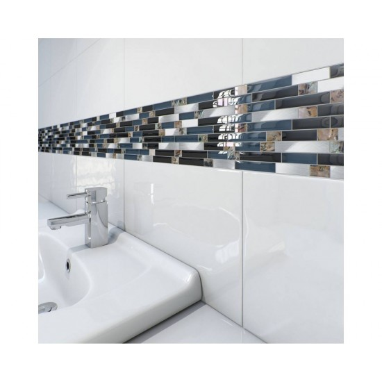 White 25CMx40CM Polished Ceramic Kitchen And Bathroom Wall Tile