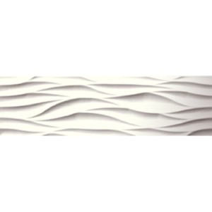 White Wave 20CMx60CM Ceramic Feature Kitchen And Bathroom Wall Tile