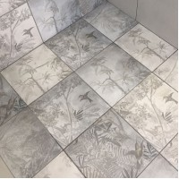Ted Baker Grey Paradise 33x33cm Wall and Floor Tiles