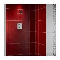 Mayfair Red Linear Glitter Sparkle Gloss 25x40 Wall Feature Tiles