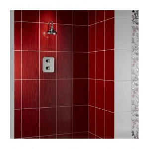 Mayfair Red Linear Glitter Sparkle Gloss 25x40 Wall Feature Tiles