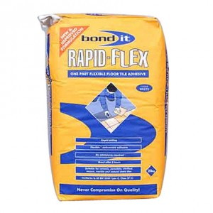 Bond IT Grey Fastset Flexible 20KG Wall And Floor Adhesive
