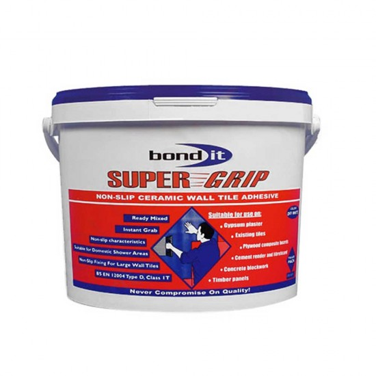 Pallet of 64 Bond IT Super Grip 14KG Wall Tile Adhesive Tubs
