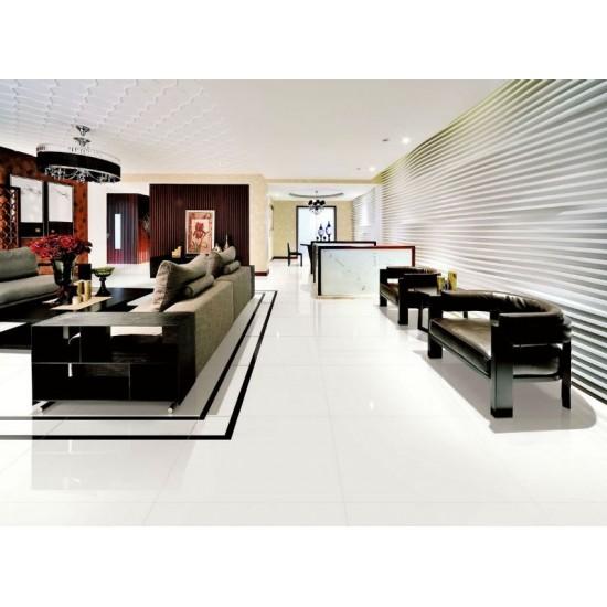 E-treme Paper Super White 60CMx60CM Polished Glazed Porcelain Kitchen And Bathroom Wall And Floor Tile