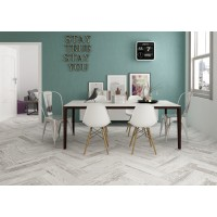 Tavola Rustic White Bianco Wood Effect Bathroom, Kitchen, Hallway Tile 15.6CMx60CM