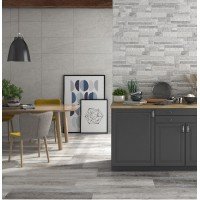 Harkon Splitace Perla Light Grey Feature Matt Porcelain 30cm x 60cm Wall Or Floor Wetroom Tiles