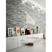 Breex Brix Strathum Grey Spliface Feature Wall Tile 33x55