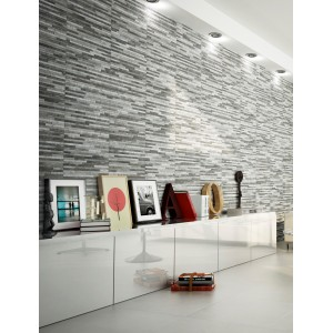 Breex Brix Strathum Grey Spliface Feature Wall Tile 33x55