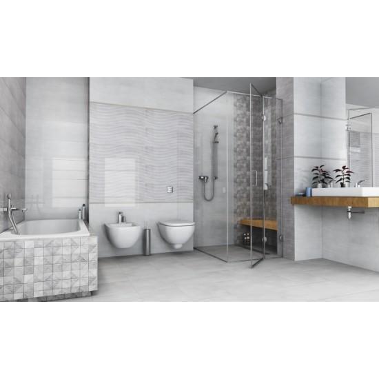 Cará Light Grey 30x90 Ceramic Gloss Kitchen And Bathroom Wall Tile