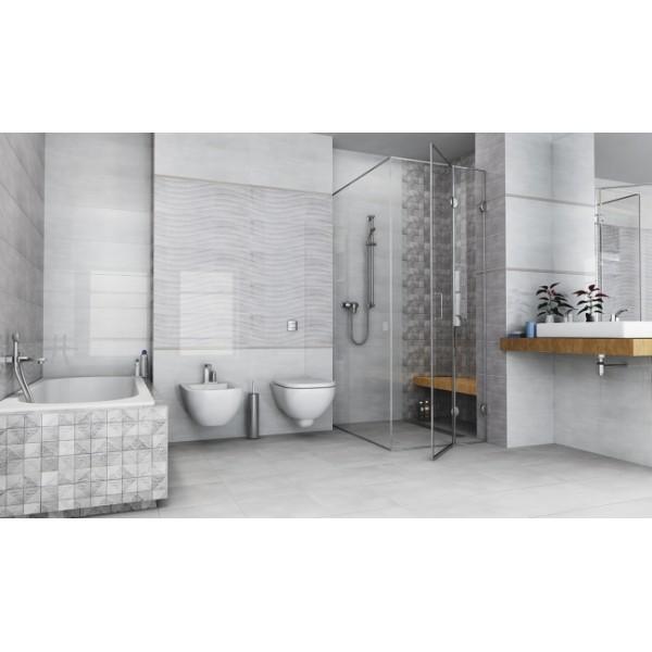 Kalos Light Grey 30x90 Ceramic Gloss Wave Kitchen And ...