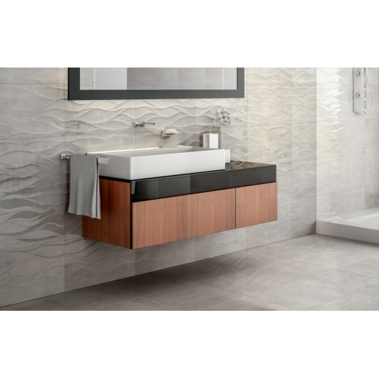 Gloss Kitchen Wall Tiles: Coast Gris Wave 33x55 Gloss Ceramic Kitchen And Bathroom
