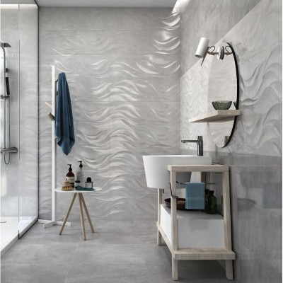 Cará Dark Grey 30x90 Ceramic Gloss Kitchen And Bathroom Wall Tile