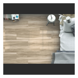 Henzo Rectified Glazed Porcelain Glossy Wood Effect Tile Gris 22,5CMx119,5CM