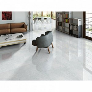 Knival Mottled Bianco Gloss Polished Porcelain 60CMx60CM Kitchen And Bathroom Wall And Floor Tile