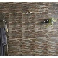 Breex Srathum Splitface Multi-Colour 31x45 Ceramic Matt Kitchen & Bathroom Wall Tile