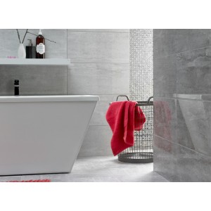 Cambridge Light Grey Pearla 30CMx60CM Gloss Ceramic Kitchen And Bathroom Floor Tile