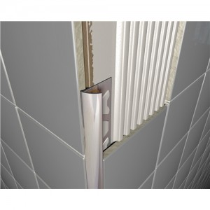 Chrome Metal Decorative Round Tile Trims 10mmx2.4m