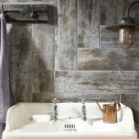 Waltham Distressed Grey Glazed Porcelain W&F 150x600mm