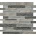 Ashby Grey Glass & Metal Mix Offset Linear Mosaic